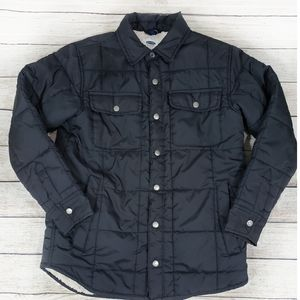 Old Navy Boy's Soft Lined Button Up Puffer Jacket